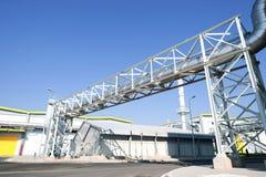 在回收的废物的全视图对能量工厂 免版税库存照片
