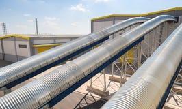 在回收的废物的全视图对能量工厂 图库摄影