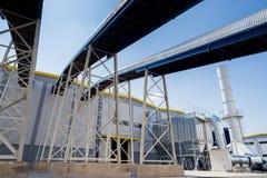 在回收的废物的全视图对能量工厂 免版税图库摄影