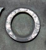 在困厄的状态印刷术的书面字词发现了数字信件o 0 免版税库存照片
