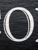 在困厄的状态印刷术的书面字词发现了数字信件o 0 免版税库存图片