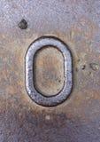 在困厄的状态印刷术的书面字词发现了数字信件o 0 库存照片