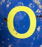 在困厄的状态印刷术的书面字词发现了数字信件o 0 图库摄影