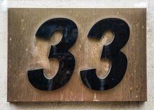 在困厄的状态印刷术被找到的第三十三33的书面字词 免版税库存照片