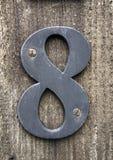 在困厄的状态印刷术被找到的第八8的书面字词 免版税图库摄影