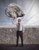 在困难商业的成功和确定 库存图片
