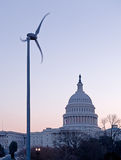 在国会大厦dc圆顶日出之后 库存照片