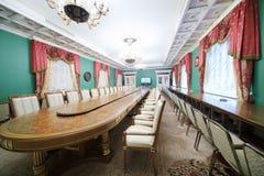 在国务院的会议桌 库存照片