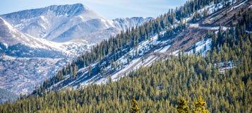 在国君通行证附近的科罗拉多落矶山脉 免版税库存照片
