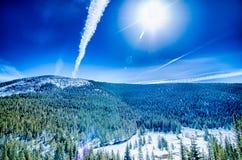 在国君通行证附近的科罗拉多落矶山脉 库存图片