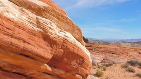 在国家储备地区红色岩石峡谷,内华达状态的运动在莫哈维沙漠 影视素材