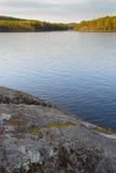 在国家公园的日落 库存照片