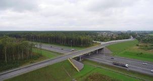 在国家的背景的公路交叉点 影视素材