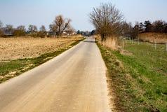 在国家边的路 免版税库存图片