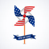 在国旗颜色的轮转焰火 免版税库存图片