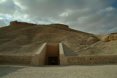 在国王的谷的坟茔没有人,西比,联合国科教文组织世界遗产名录站点,埃及的 库存图片