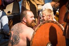 在国际历史节日Ladogafest-2013期间 免版税库存照片