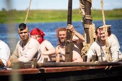 在国际历史节日Ladogafest-2013期间 免版税库存图片