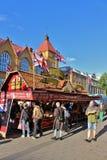 在国际街市上的英国乳脂软糖 免版税图库摄影