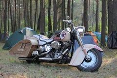 在国际骑自行车的人节日的摩托车在布雷斯特,白俄罗斯05/26/2012 库存图片