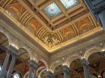 在图书馆里面的国会 图库摄影