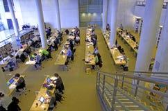 读在图书馆 免版税图库摄影