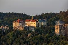 在图尔诺夫附近的Hruba斯卡瓦大别墅在漂泊天堂 图库摄影