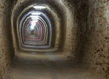 在图尔达盐矿里面的一个走廊 库存图片