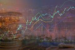 在图形设计backgrou的股票或外汇或者物产投资 免版税图库摄影