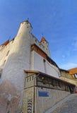在图恩城堡的中央入口在瑞士 免版税库存照片
