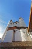 在图恩城堡的入口在瑞士 免版税图库摄影