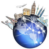在图画梦想旅行世界范围内 免版税图库摄影