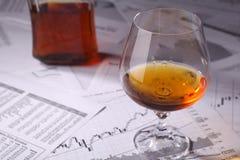 在图的白兰地酒 免版税库存图片