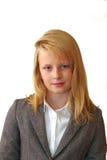 在图象的女小学生画象企业夫人 库存照片