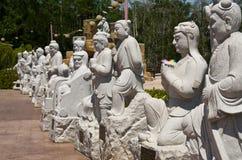 在图阿Pek孔寺庙, Sitiawan,马来西亚的雕象 库存图片