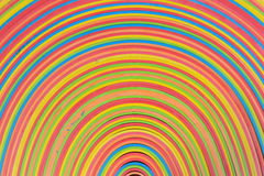 橡胶盘条彩虹样式 免版税库存图片