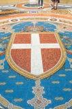 在圆顶场所维托里奥Emanuele地板上的马赛克II 免版税库存图片