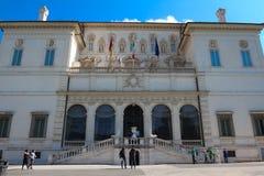 在圆顶场所Borghese的视图在别墅Borghese,罗马,意大利 免版税库存照片