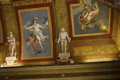 在圆顶场所Borghese罗马意大利的天花板 免版税库存图片