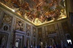 在圆顶场所Borghese罗马意大利的天花板 免版税图库摄影