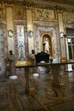 在圆顶场所Borghese罗马意大利的罗马雕象 库存图片