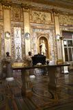 在圆顶场所Borghese罗马意大利的罗马雕象 库存照片