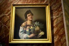 在圆顶场所Borghese罗马意大利的绘画 库存照片