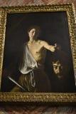 在圆顶场所Borghese罗马意大利的绘画 库存图片