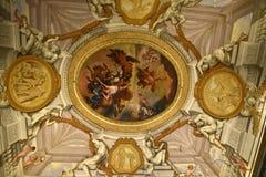 在圆顶场所Borghese罗马Ital的天花板 免版税图库摄影