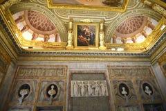 在圆顶场所Borghese罗马Ital的雕塑 免版税库存图片