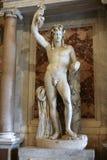 在圆顶场所Borghese,罗马的大理石雕塑, 免版税库存图片