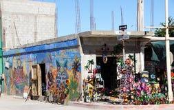 在圈地驱动的墨西哥艺术品在Puerto Penasco,墨西哥 免版税库存图片