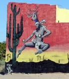 在圈地驱动的大厦艺术在Puerto Penasco,墨西哥 库存照片