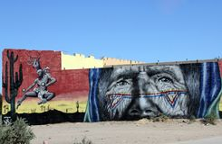 在圈地驱动的大厦艺术在Puerto Penasco,墨西哥 图库摄影